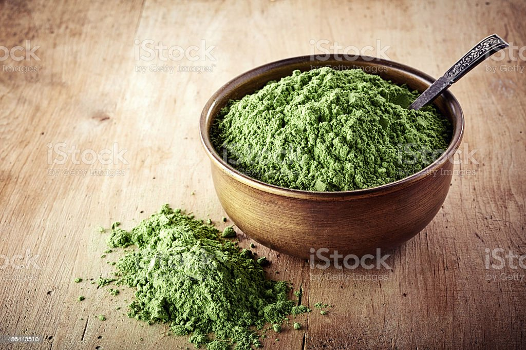 wheat sprouts powder stock photo