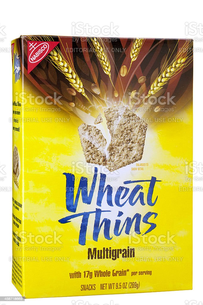 Wheat Thins Multigrain Crackers by Nabisco royalty-free stock photo
