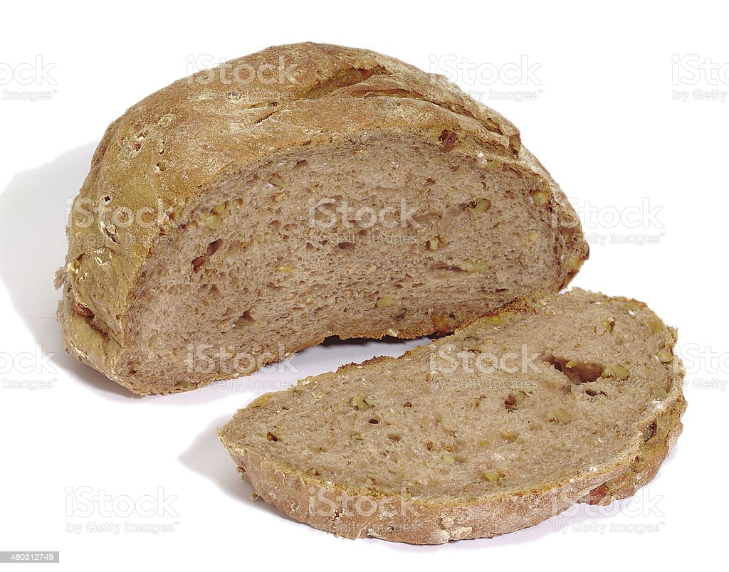 Wheatgerm bread slice stock photo