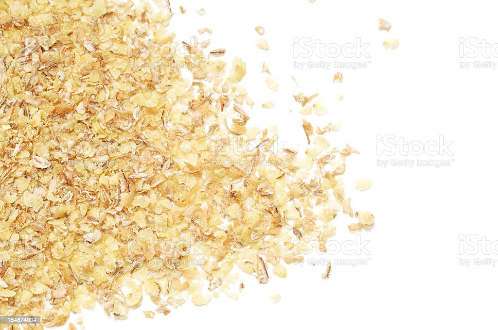 Wheatgerm scattered stock photo