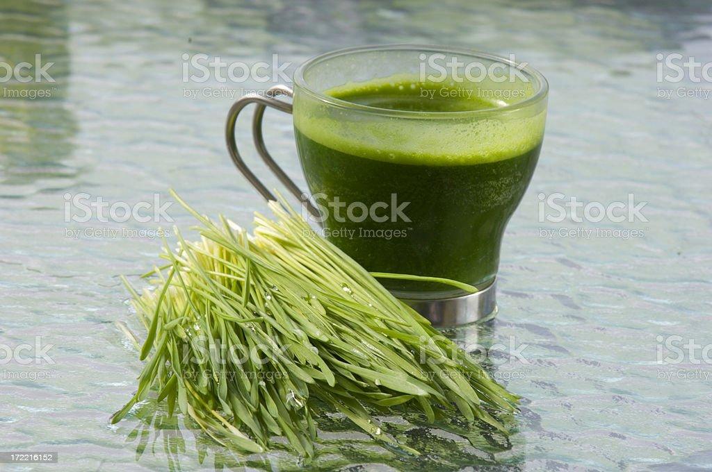 Wheatgrass Cocktail stock photo