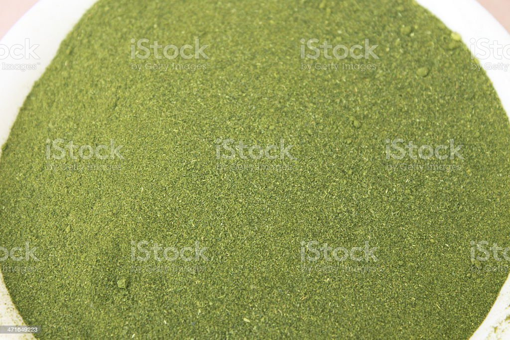 Wheatgrass Powder royalty-free stock photo