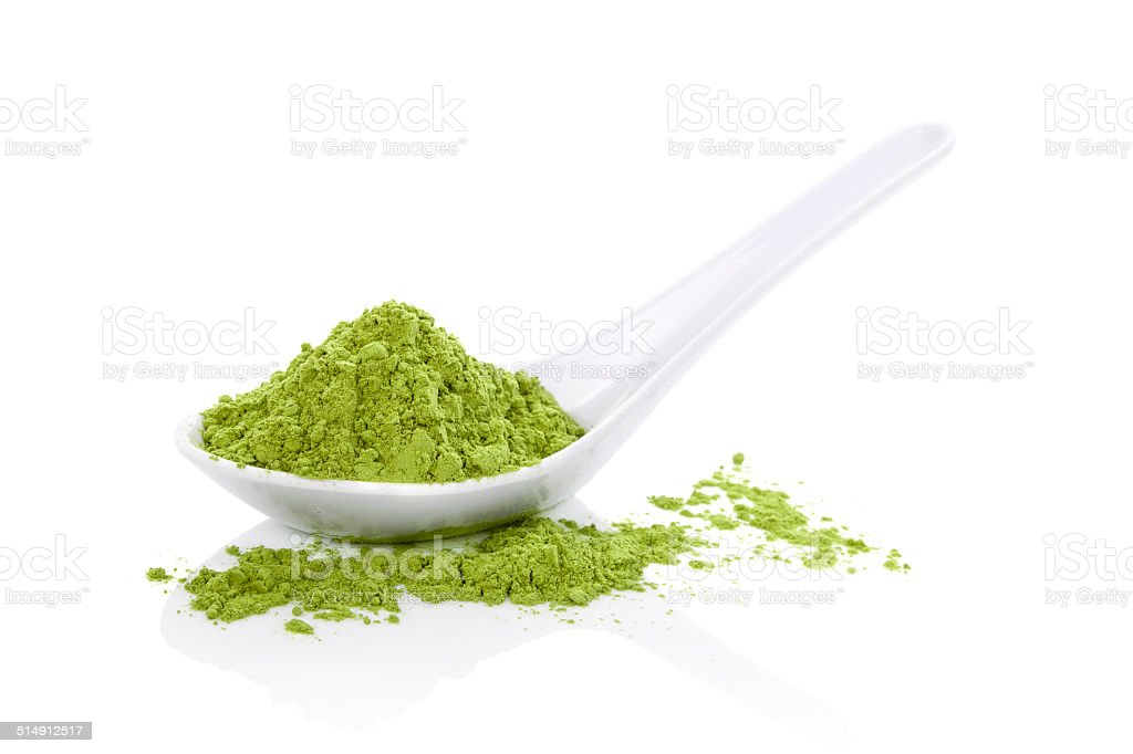 Wheatgrass powder. stock photo