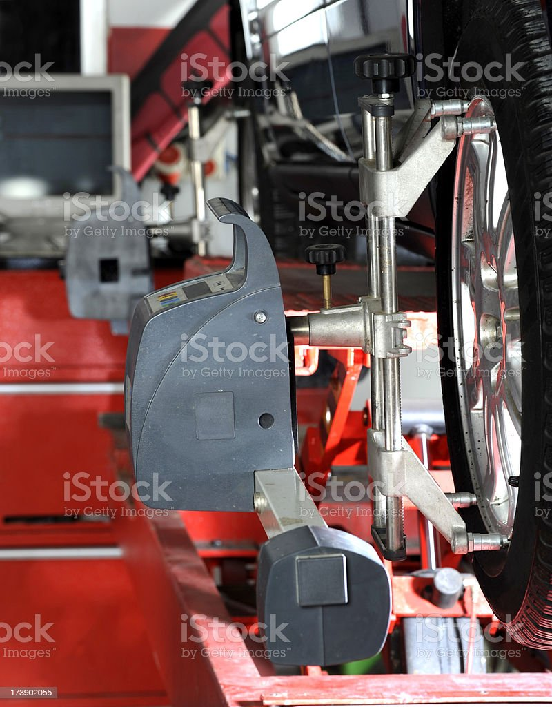 Wheel Alignment and Balancing royalty-free stock photo