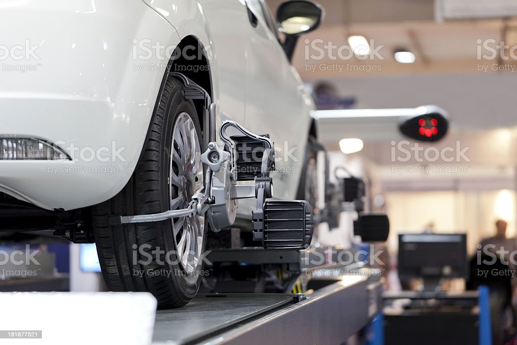 Wheel alignment royalty-free stock photo