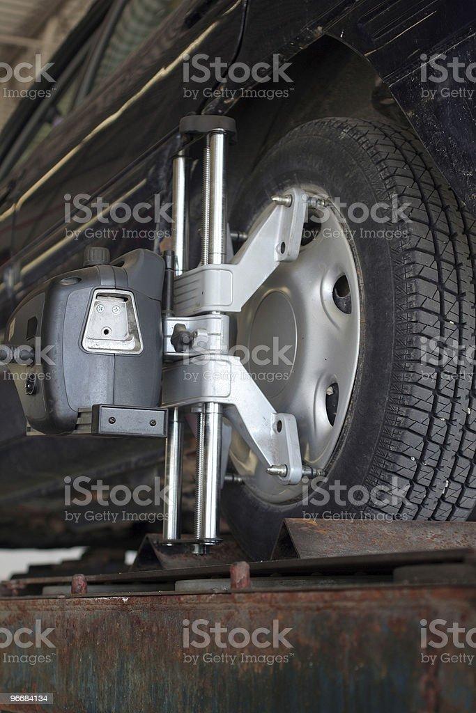 Wheel Alignment royalty-free stock photo