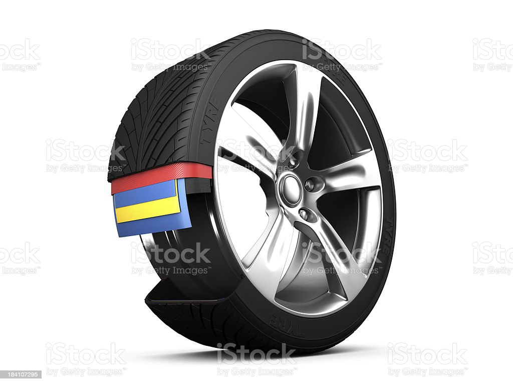Wheel & Tyre royalty-free stock photo