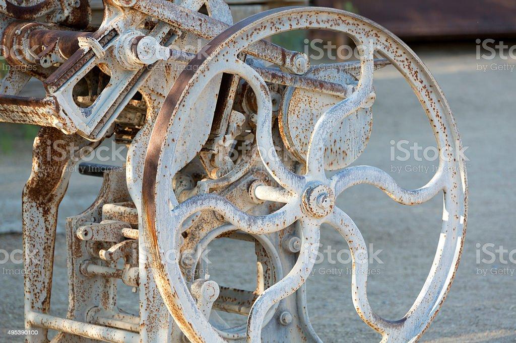 Wheel and axle stock photo