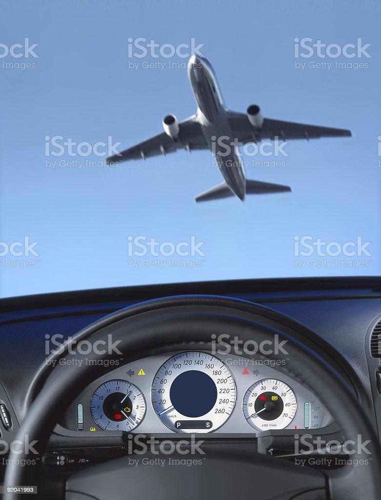 Wheel and dashboard stock photo