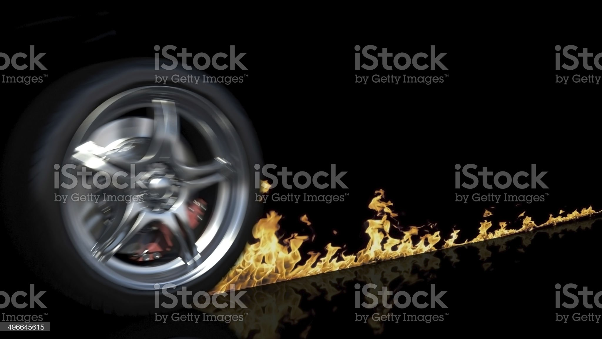 Wheel and fire royalty-free stock photo
