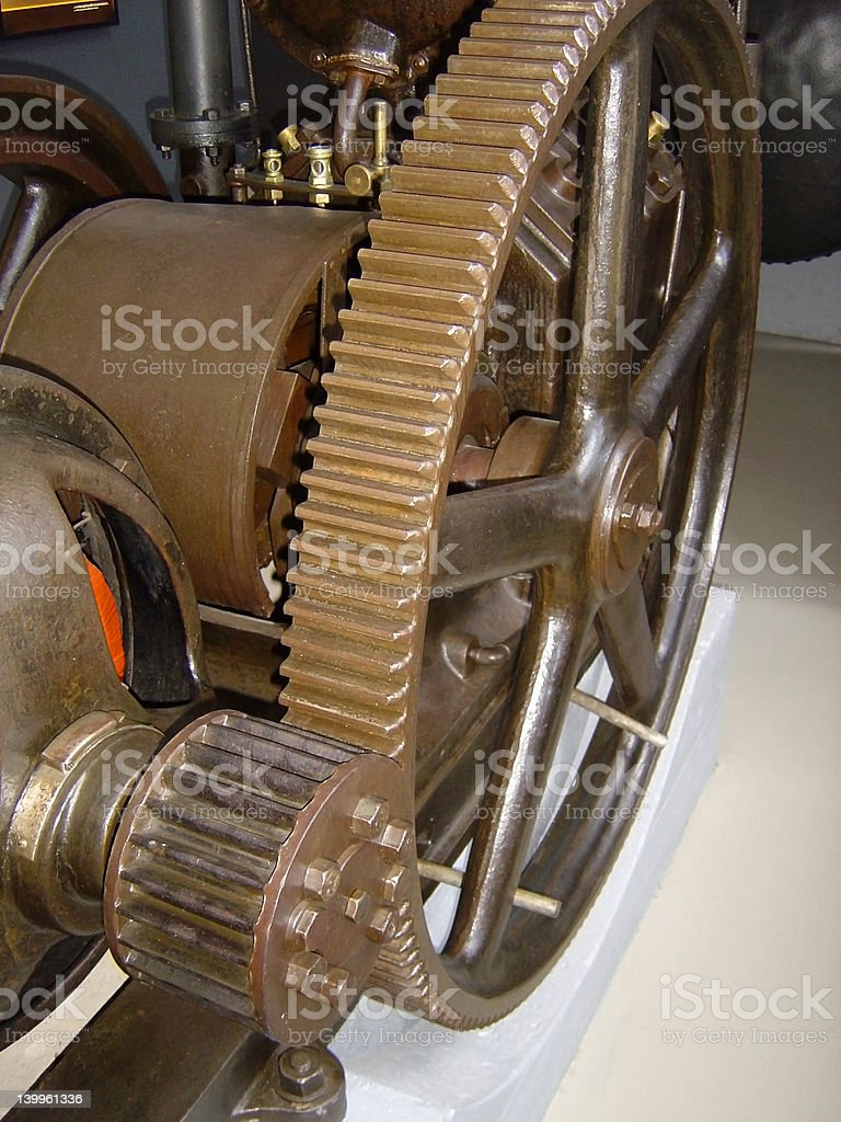 wheel and gear2 stock photo