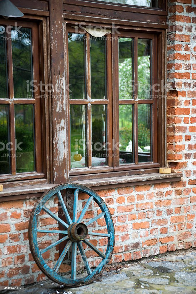 Wheel and House royalty-free stock photo