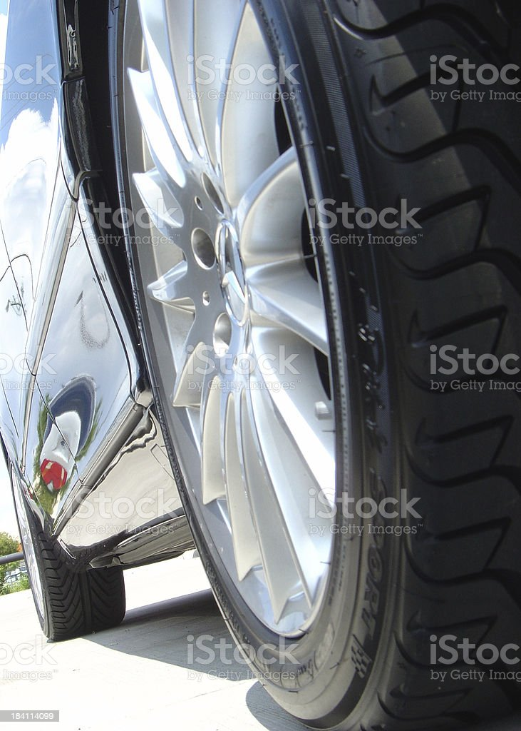 Wheel And Rim On A New Luxurios Car royalty-free stock photo