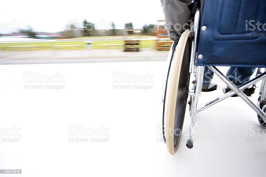 Wheel Chair Motion Velodrome royalty-free stock photo