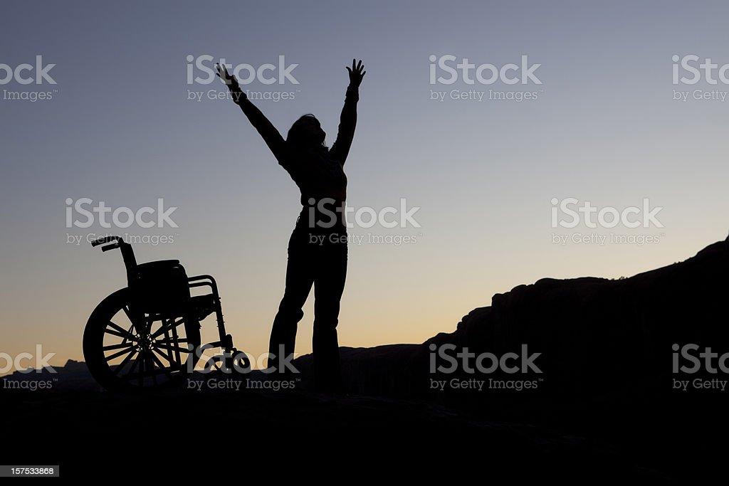 Wheel Chair Silhouette stock photo