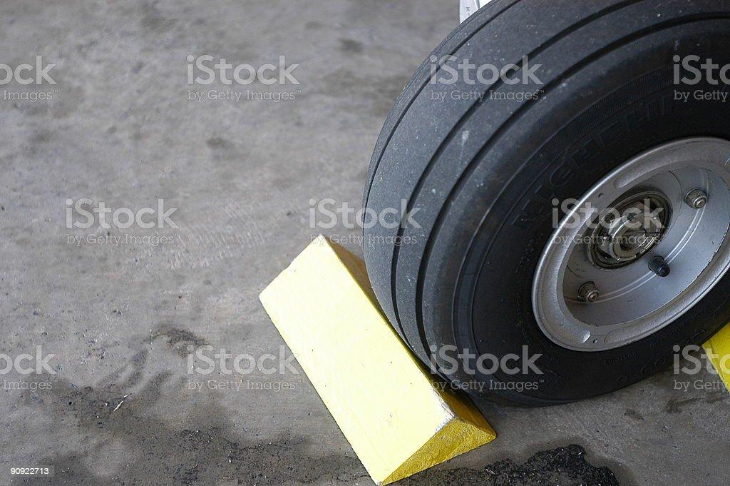 Wheel Chock stock photo