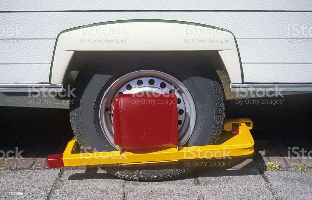 Wheel clamp royalty-free stock photo