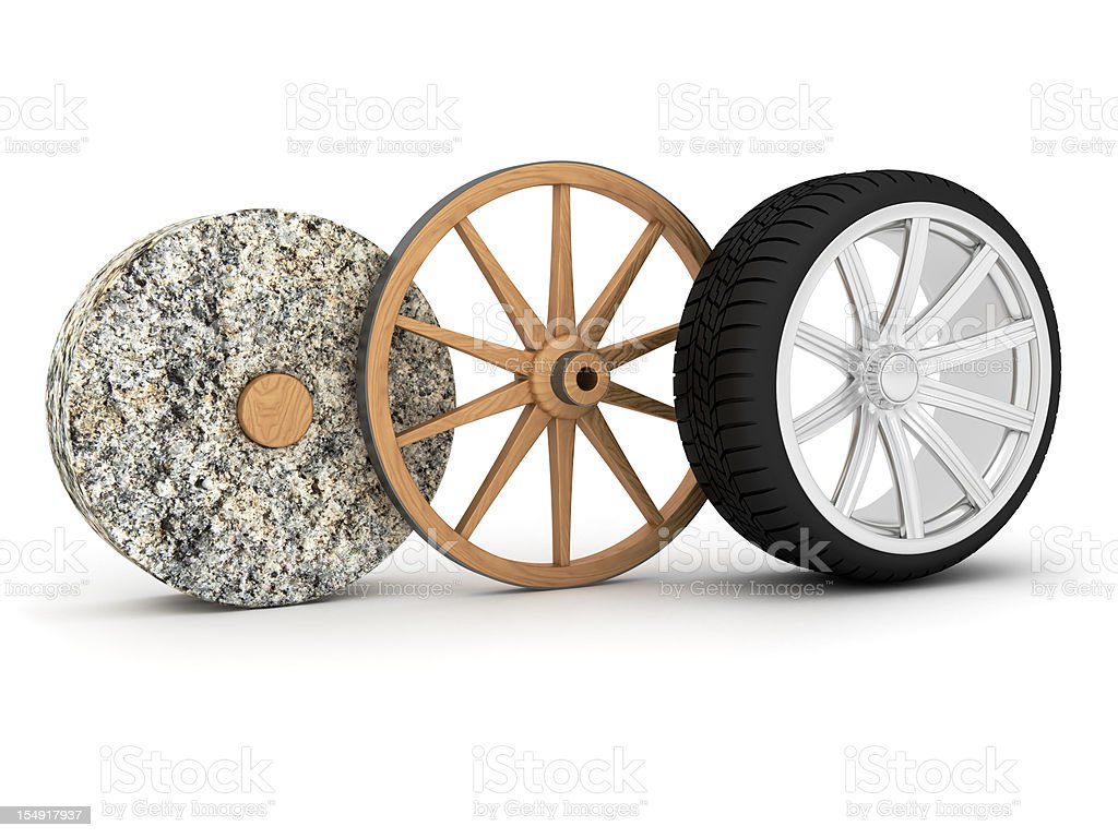 Wheel evolution stock photo