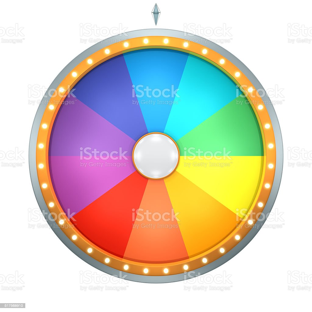 wheel fortune 10 area stock photo