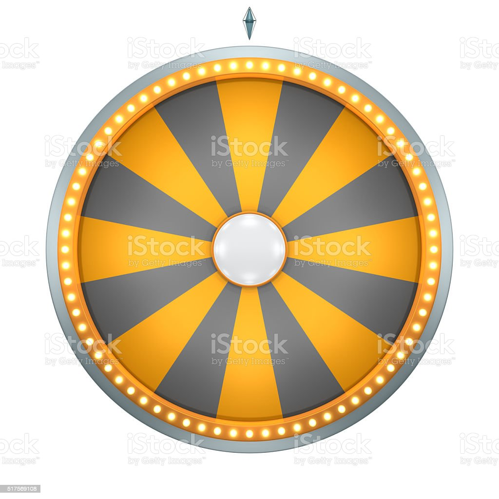 wheel fortune 16 area orange stock photo