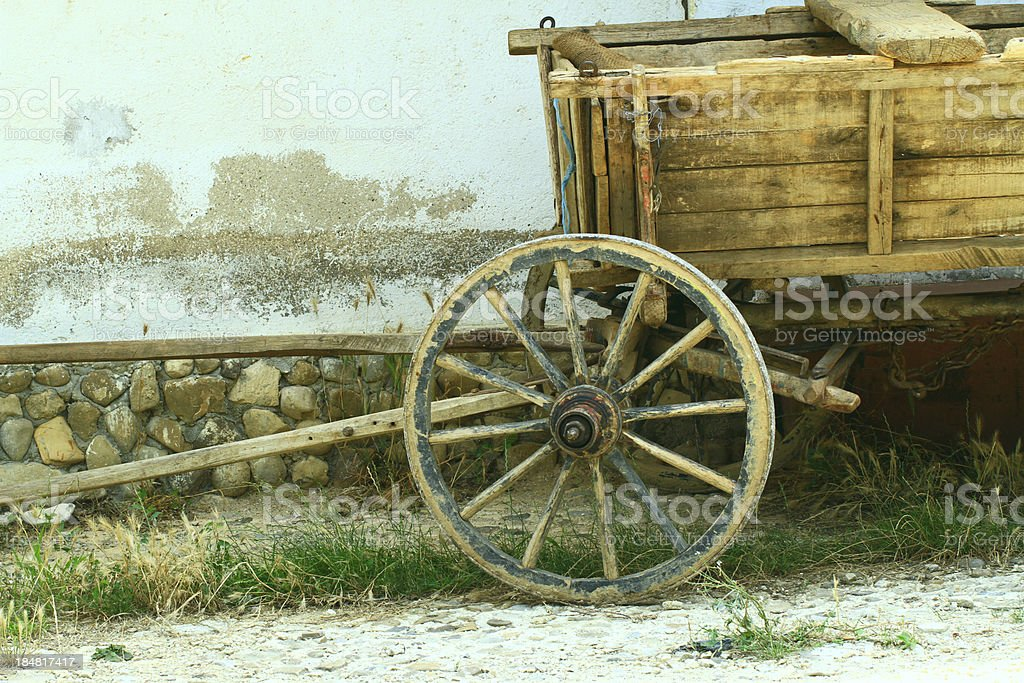 Wheel from cart stock photo