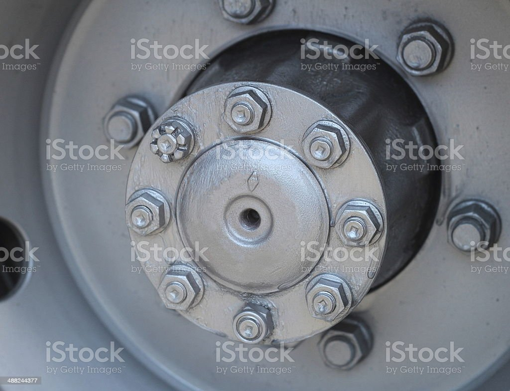 Wheel hub stock photo