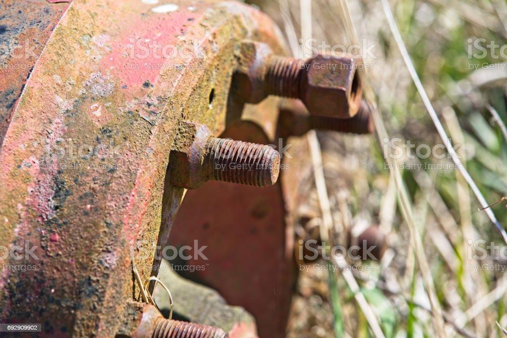 wheel hub stock photo
