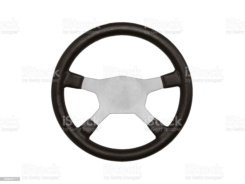 Wheel isolated on white royalty-free stock photo