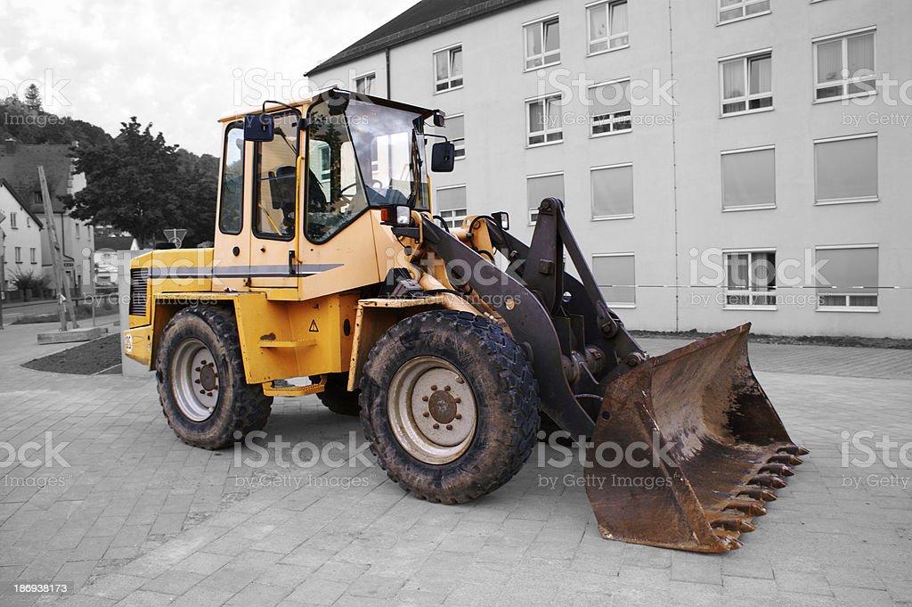 wheel loaders royalty-free stock photo