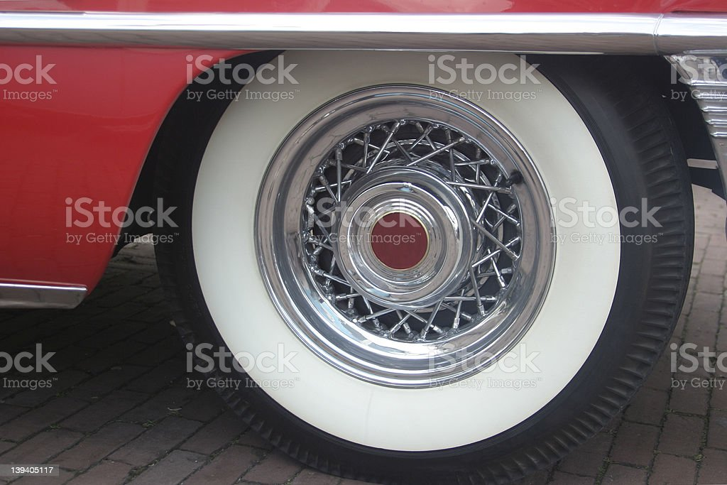Wheel of a Classic Cadillac royalty-free stock photo