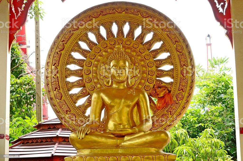 Wheel of Buddhism. stock photo