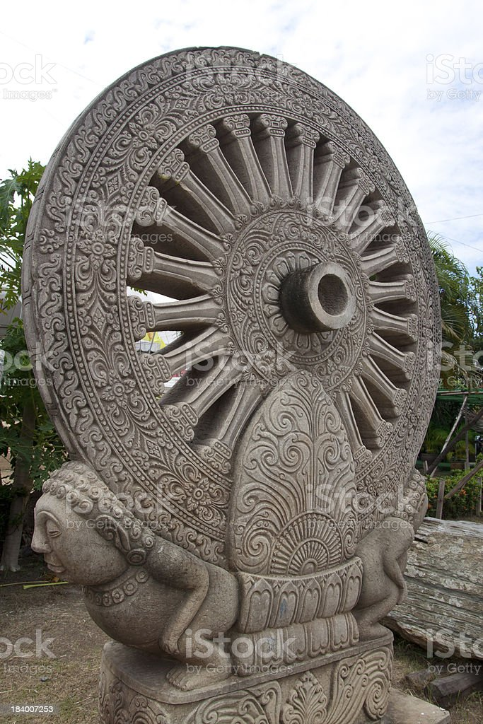 Wheel of the law royalty-free stock photo