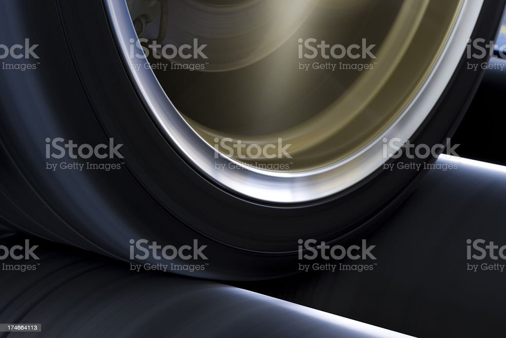 Wheel on Rolling Dynamometer 2 royalty-free stock photo