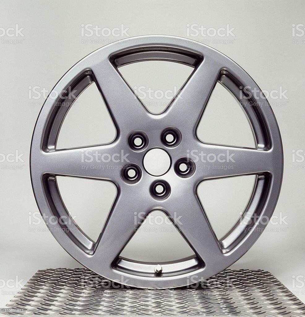 wheel rim in grey back stock photo