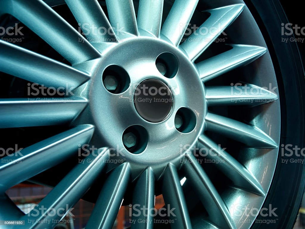 wheel rim stock photo
