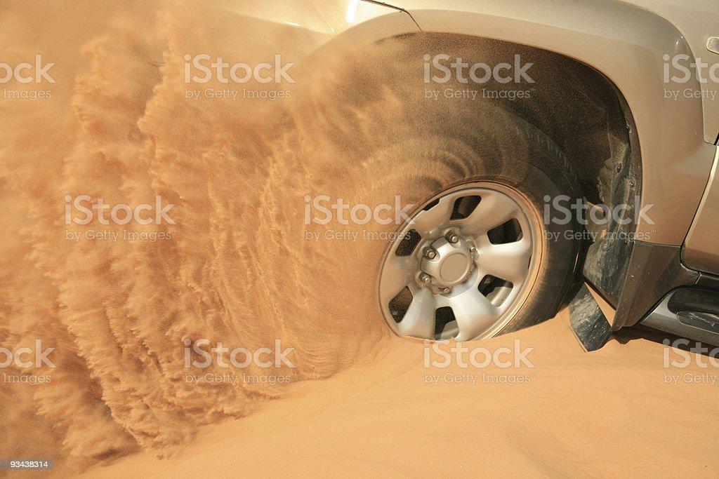 wheel stuck royalty-free stock photo