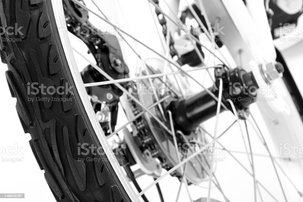 Wheel with tire of bicycle royalty-free stock photo