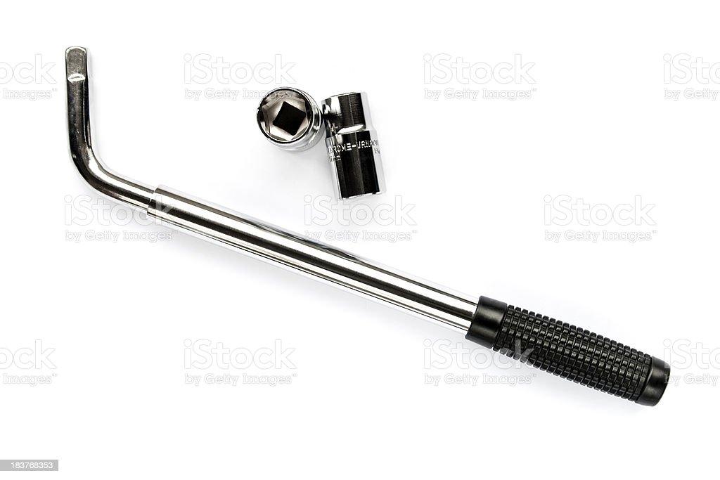 Wheel wrench stock photo