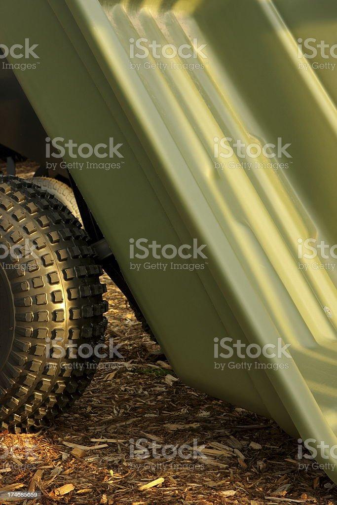 Wheelbarrow Cart Trailer Yard Tool royalty-free stock photo
