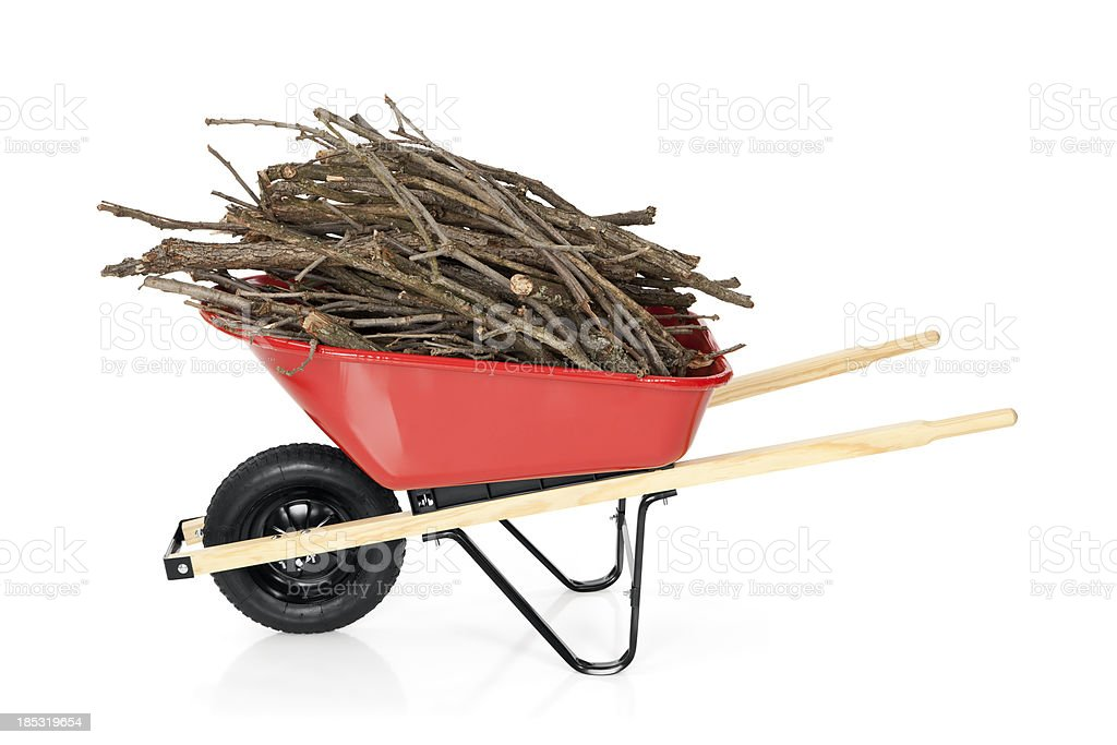 Wheelbarrow Full of Branches royalty-free stock photo