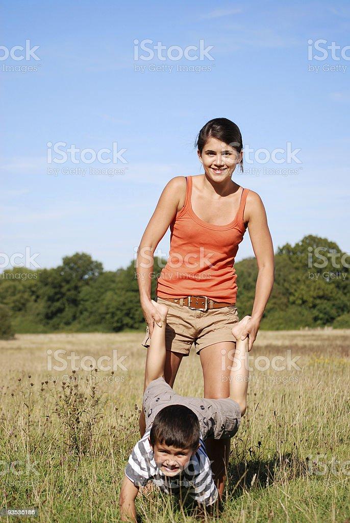 Wheelbarrow fun stock photo
