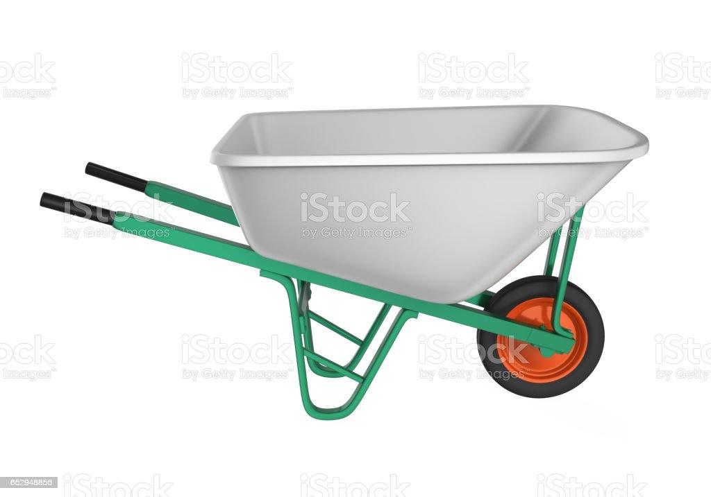 Wheelbarrow Isolated stock photo
