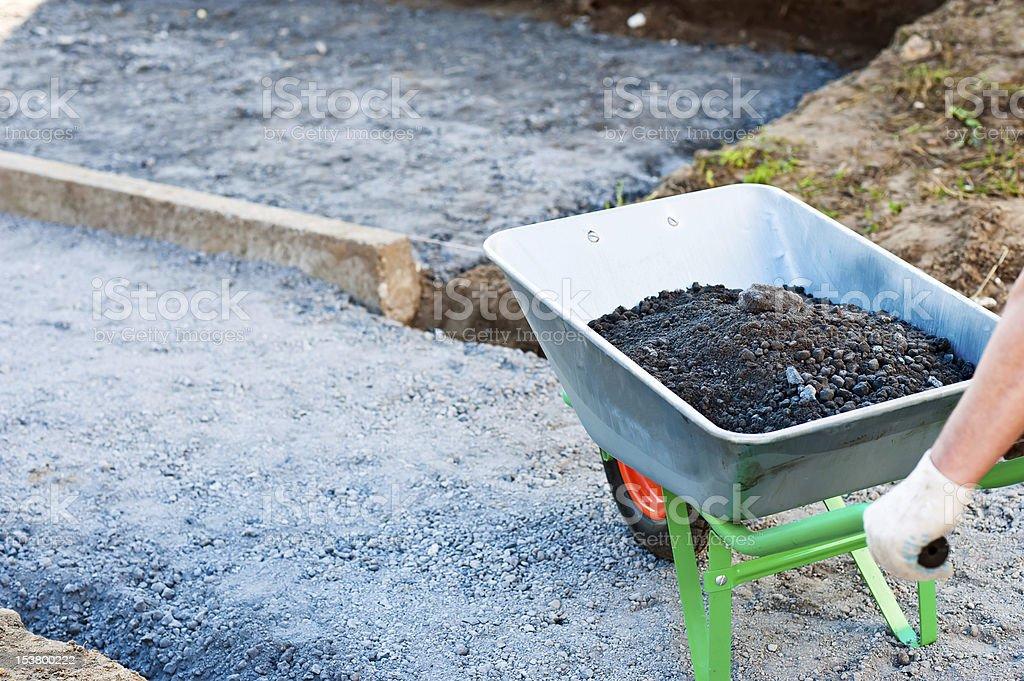 wheelbarrow royalty-free stock photo