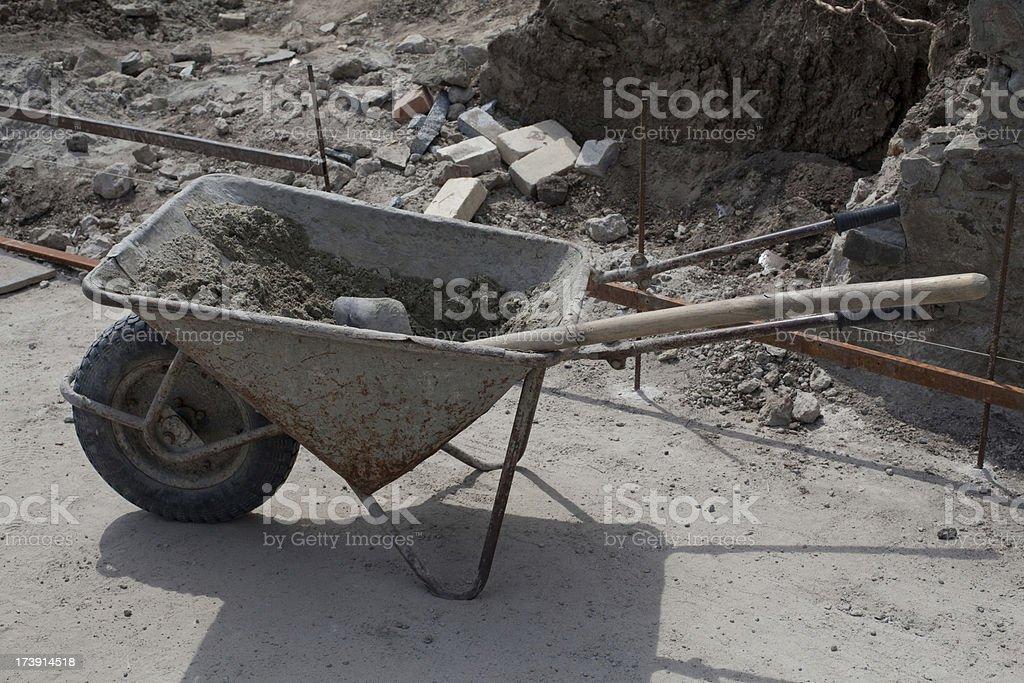 wheelbarrow (XXXL) royalty-free stock photo