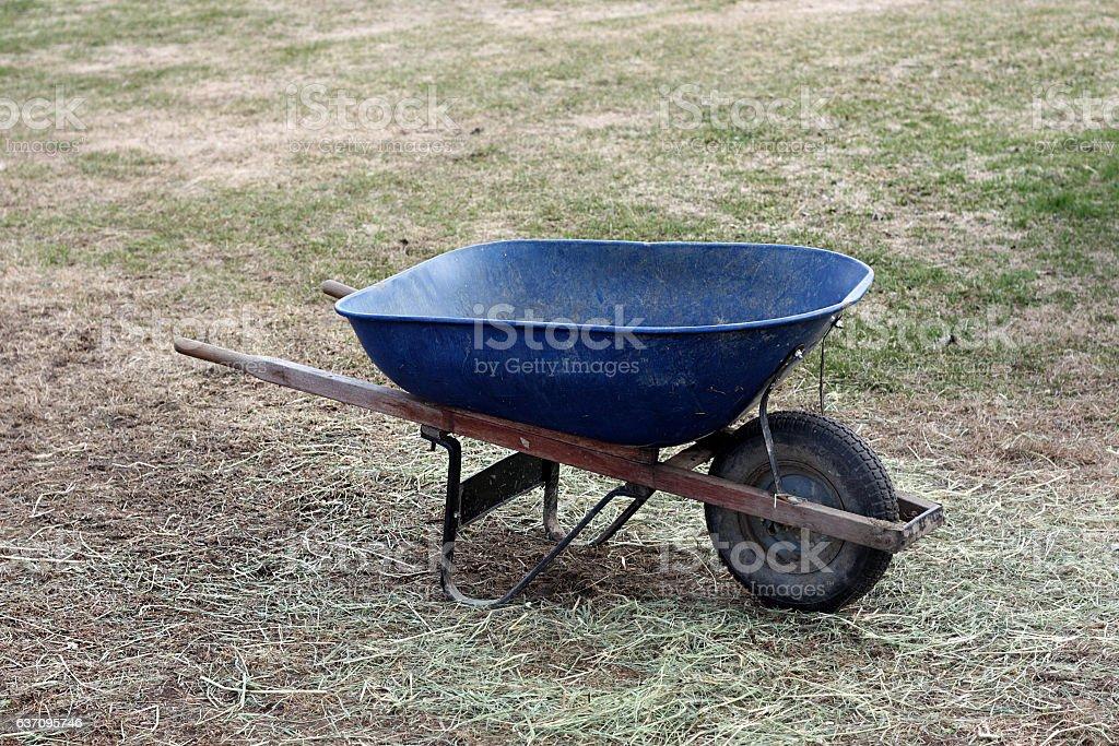 Wheelbarrow stock photo