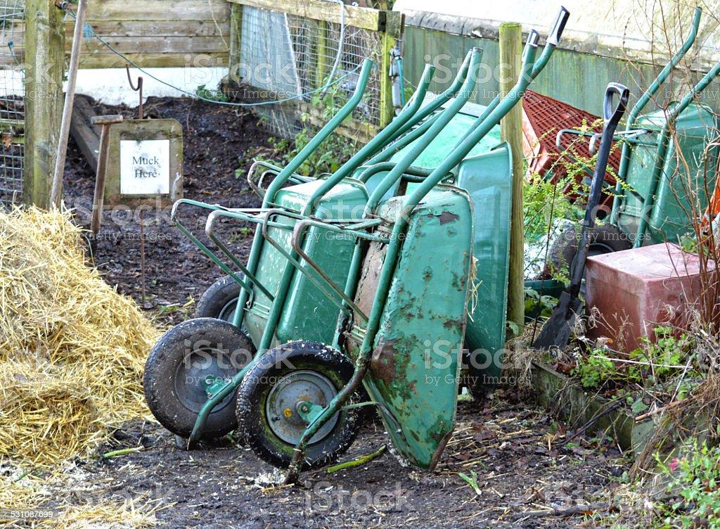 Wheelbarrows photo libre de droits