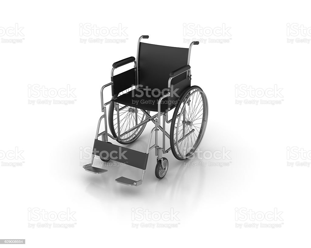 Wheelchair - 3D Rendering stock photo