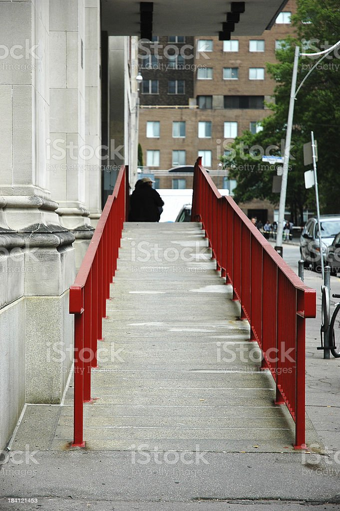 Wheelchair access royalty-free stock photo