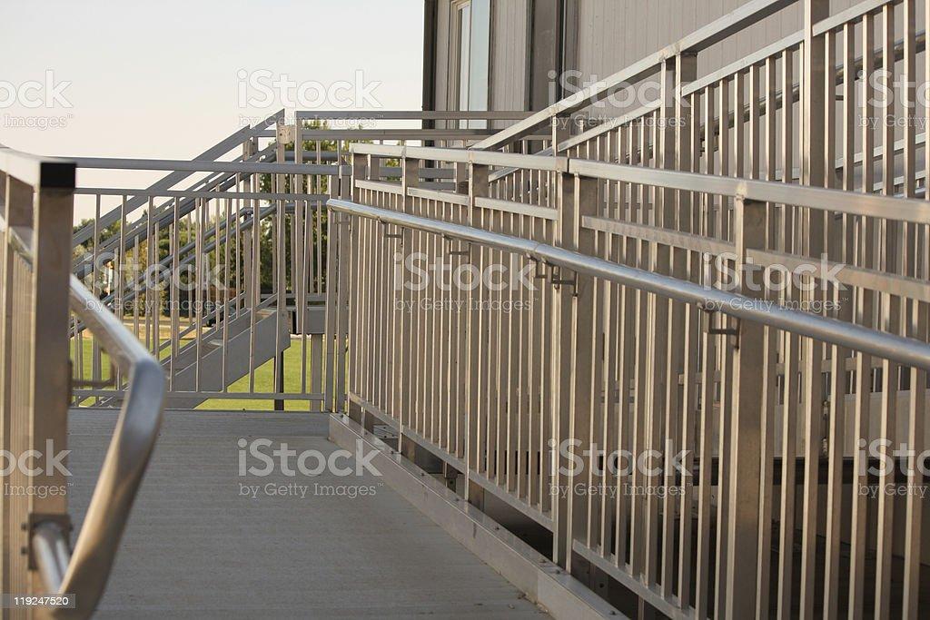 Wheelchair Access Ramp stock photo