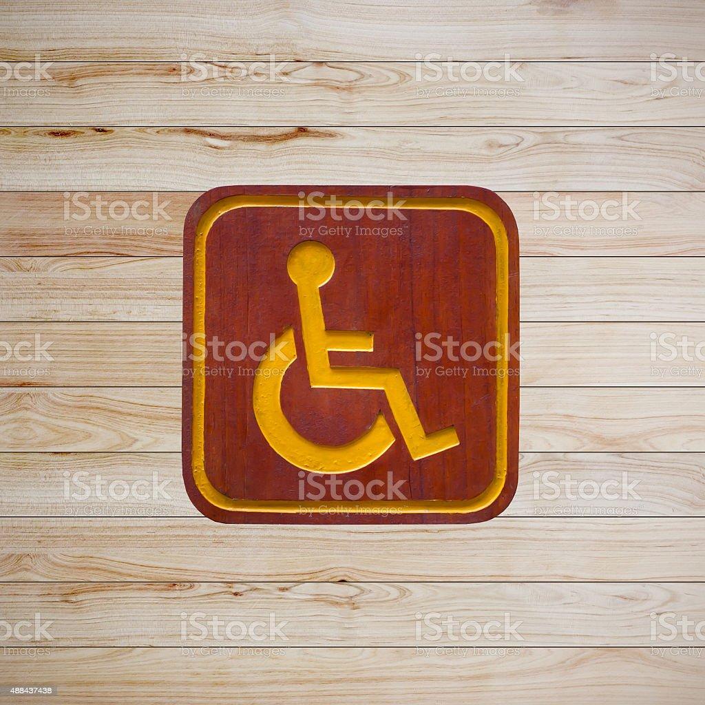 Wheelchair access sign stock photo